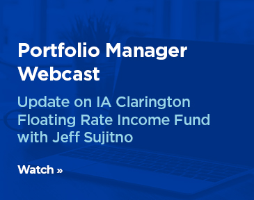 Portfolio manager Jeff Sujitno provides an update on the IA Clarington Floating Rate Income Fund and discusses his outlook for the senior loan market.